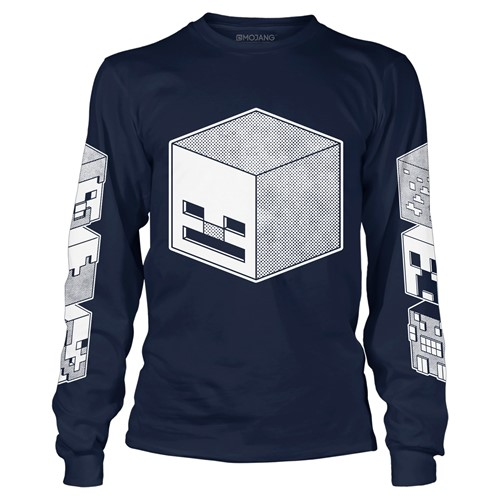 Photo of Minecraft Overworld Skeleton Cube Dudes Long Sleeve Tee
