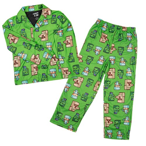 Photo of Minecraft Steve on the Run Youth Pajama Set