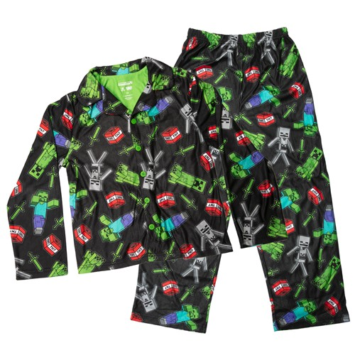 Photo of Minecraft Creeper Chaos Youth Pajama Set