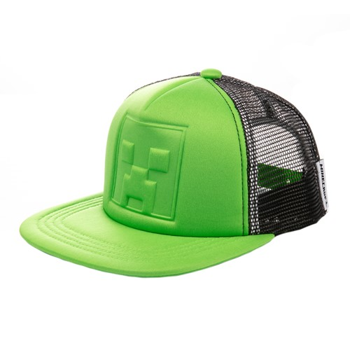 Photo of Minecraft Who's Deboss Creeper Youth Snap Back Hat