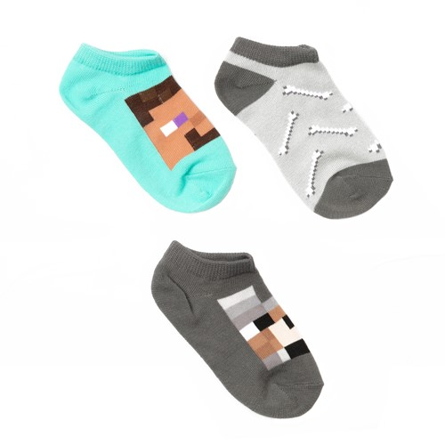 Photo of Minecraft Animal Mobs No Show Socks, 3-Pack