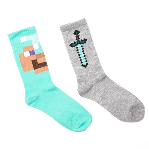 Photo of Minecraft Active Nether Crew Socks, 2-Pack