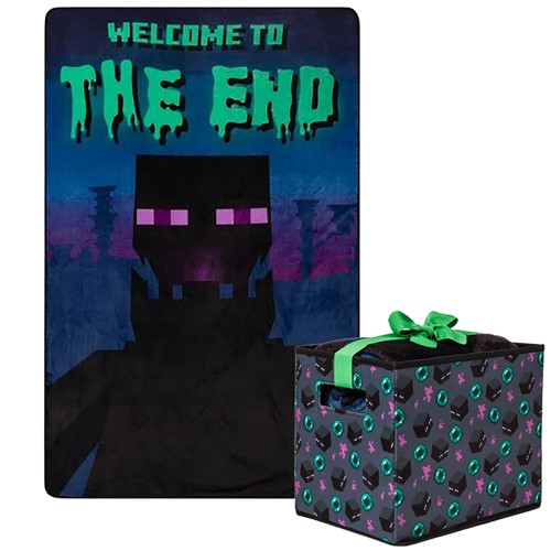 Photo of Minecraft Enderman Blanket with Storage Box