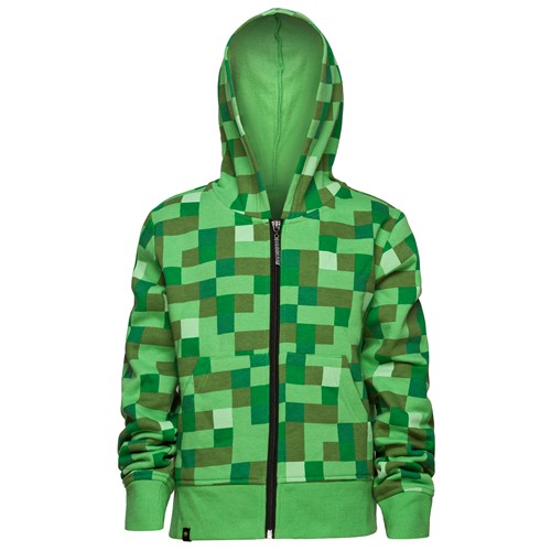Photo of Minecraft Creeper No Face Premium Zip-Up Youth Hoodie