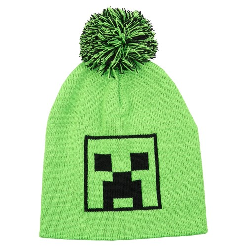 Photo of Minecraft Creeper Pom Beanie